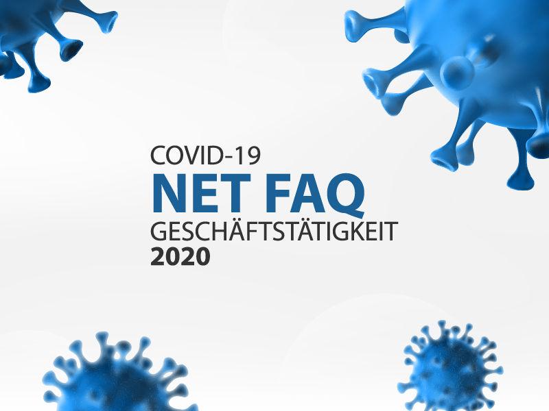 NET Geschäftstätigkeit – FAQ & Informationen COVID-19